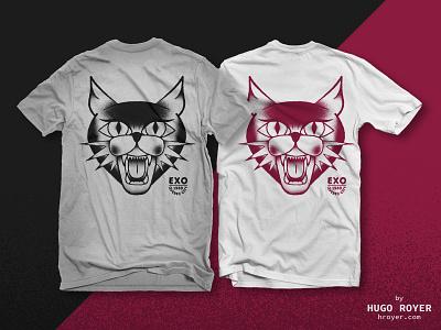 Evil Cat T-Shirt Design animal drawing illustration cat clothing t-shirt tattoo