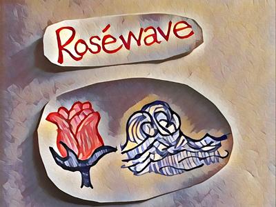 Roséwave 🌹🌊 logo icon typography illustration flat design