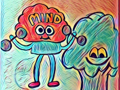 Where's Your Mind At? flat illustration design
