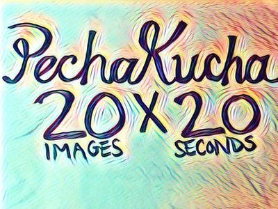 PechaKucha flat illustration typography