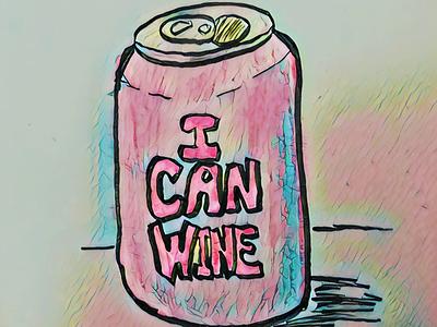 I Can Wine. illustration