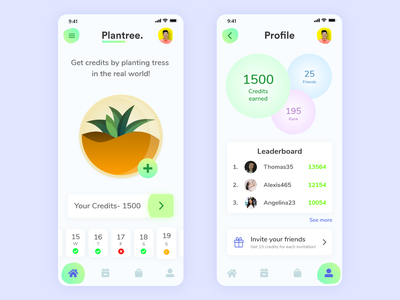 Plant Growing App Mobile Design ui  ux illustraion uxdesigns uxdesigner uxdesign uidesign userinterface design userinterfacedesign userexperience userinterface plant app tree app dailyui dribbble design branding app ux ui