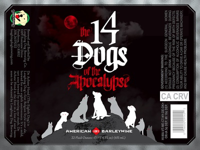 The 14 Dogs of the Apocalypse beer 22oz label packaging barleywine brew dogs blood metallized