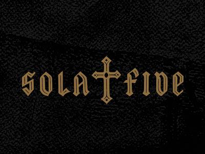 Sola Fide (By Faith Alone) reformation illustration faith blackletter lettering