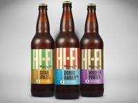 Hi-Fi Brewing Company Bomber Label Designs
