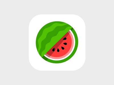 Watermelon Icon icon flat lunch android ios slices fruit watermelon