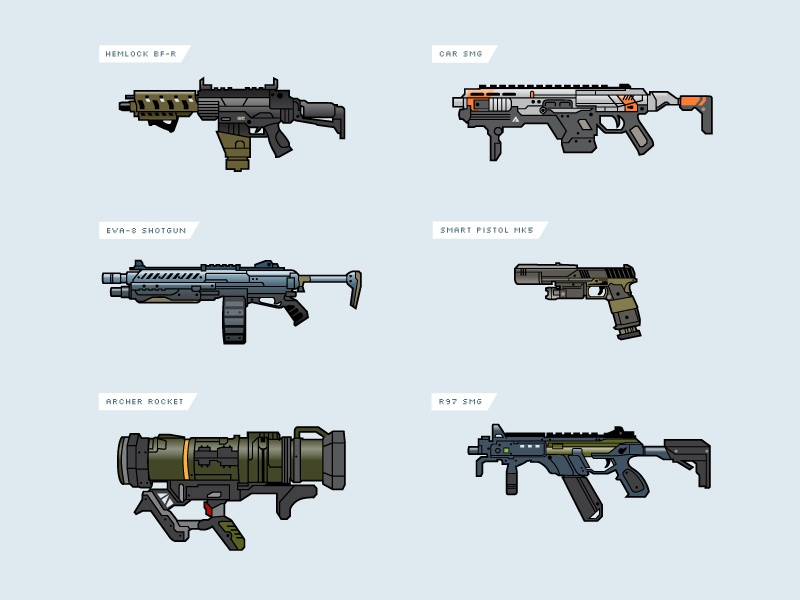 Titanfall 2 Weapons by Tim Kordik | Dribbble | Dribbble