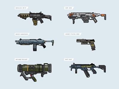 Titanfall 2 Weapons rifle gun mech emoji illustration xbox pilots shooter titanfall