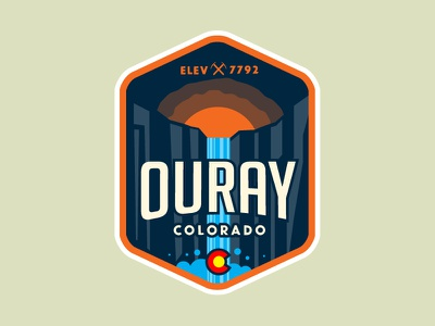 Ouray Colorado Patch waterfall mountains canyon colorado motorcycle ouray sticker patch