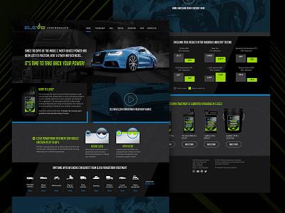 ELEV8 Performance Products Web Site dark ui uidesign ui performance cars responsive darkmode automotive website concept website web