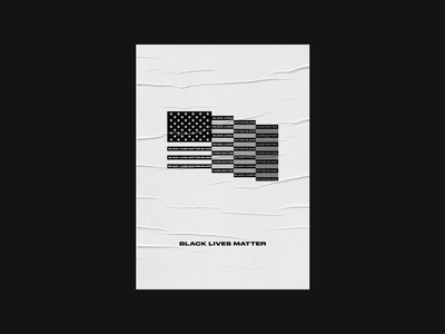 Black Lives Matter poster print type druk usa logo blm america flag typography illustration art design black lives matter
