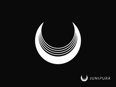 Junipurr Logo 2020 wordmark space moon illustration design symbol icon vector branding logo