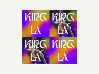 The King of LA base and bloom typography type album branding editorial poster print ui design grid photography gradient psychedelic nba basketball los angeles lakers los angeles lebron james sports