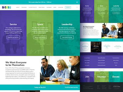 The 519 Landing Page website type ux responsive lgbt grid agency ui flat design web landing