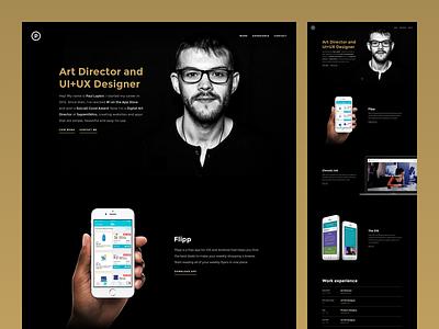 Portfolio 4.0 dark modern gold website grid photography typography ux ui portfolio branding personal