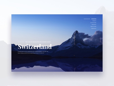 The Matterhorn design ui web editorial mountains alps swiss photography minimal typography type clean
