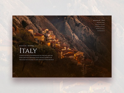 The Boot serif roman italy photography web ui typography type minimal editorial design clean