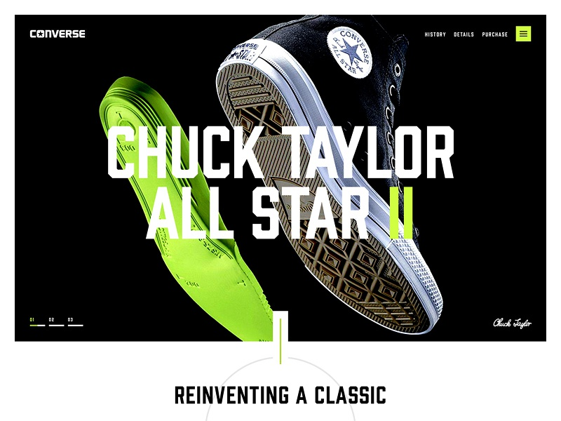 All Star II Teaser type simple concept typography design site web design website web ui landing converse