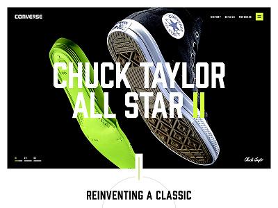 All Star II Teaser type simple concept typography design site web design website web ui landing converse
