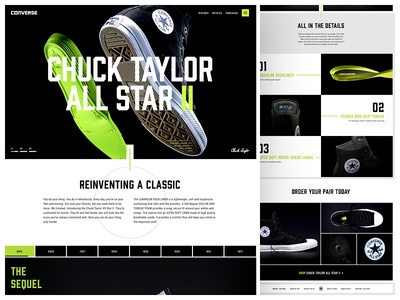 All Star II Landing green art direction converse landing ui web website web design design typography concept type