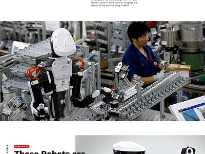 Japanese Robots Landing grid type simple concept typography design web design web ui landing japan website
