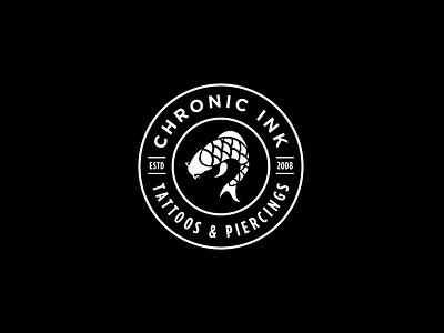 Chronic Ink Signage black dark typography type identity logo branding brand signage sign graphic design design