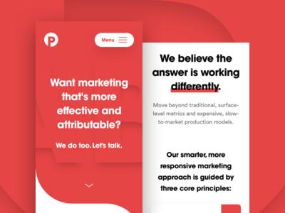 Performance Labs — Mobile Landing Page branding corporate digital agency web web design home page landing page mobile interface ui ux minimal