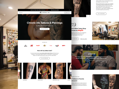 Chronic Ink Home ui web website design grid ux landing home landing page homepage photography tattoo