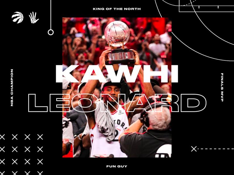 Fun Guy. wallpaper vector icon sports kawhi leonard branding interface dark web design raptors basketball nba ux ui grid typography type