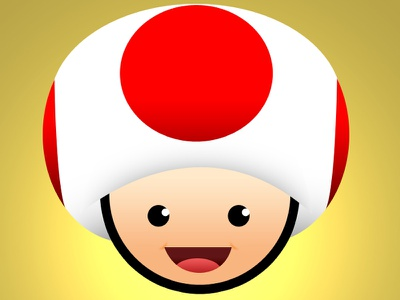 Toad Dribbble toad toadstool nintendo drawing vector layers