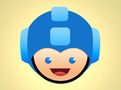 Megaman Dribbble capcom megaman rockman nintendo blue drawing layers vector