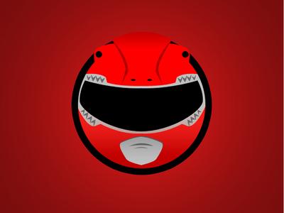 Red Ranger Minimal Web Sticker