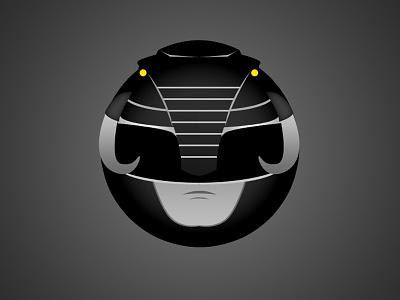 Black Ranger Minimal Web Sticker web sticker mmpr power ranger black ranger mighty morphin power ranger
