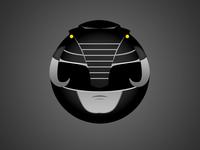 Black Ranger Minimal Web Sticker