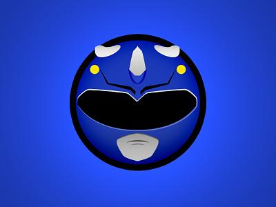 Blue Ranger Minimal Websticker web sticker mmpr power ranger blue ranger mighty morphin power ranger