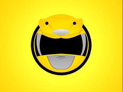 Yellow Ranger web sticker mmpr power ranger yellow ranger mighty morphin power ranger