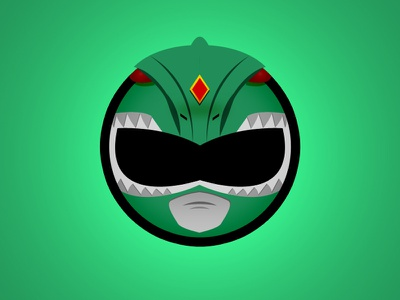 Green Ranger Minimal Websticker green ranger power rangers vector drawing logo design