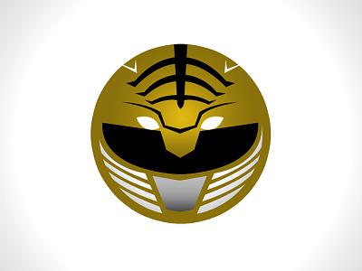 White Ranger Minimal Websticker vector design logo design power rangers