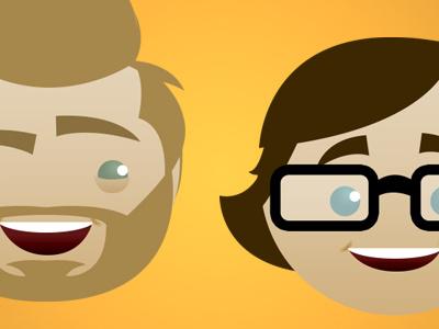 Rhett And Link websticker rhett link rhettandlink vector cartoon
