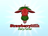 StrawberryMilk Dairy Farms Logo