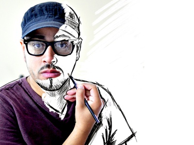 Me Sketched Dribble sketch