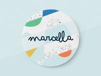 Marcella's birth announcement card