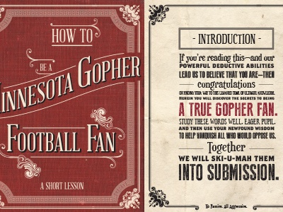 How To Be A Minnesota Gopher Football Fan