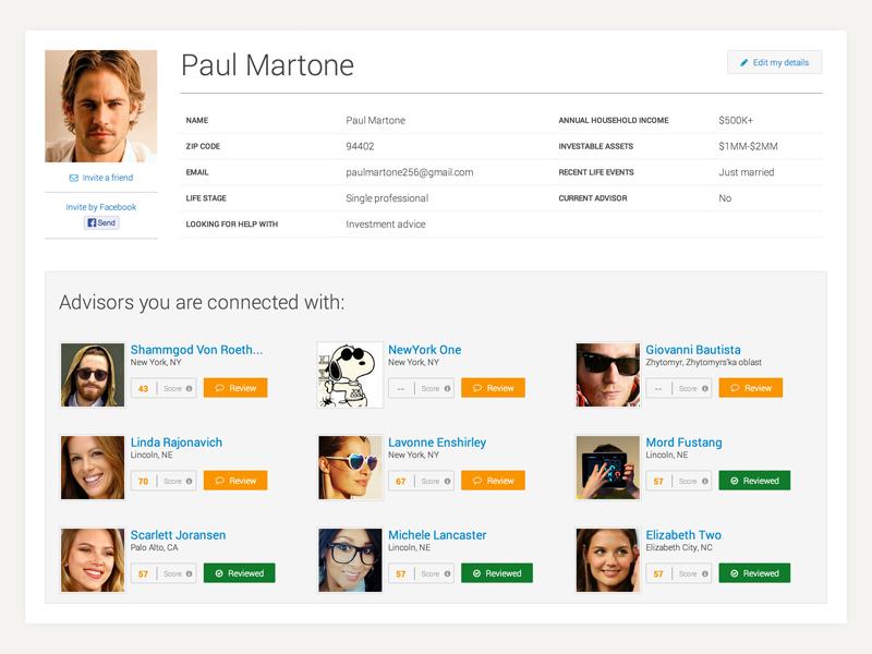 Webapp Profile Page profile social ui card webapp