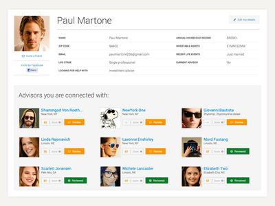 Webapp Profile Page