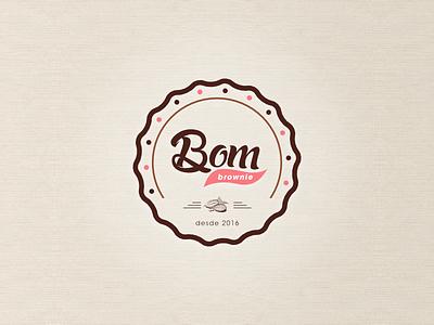 Bom Brownie Logotipo logotipo brownie