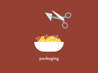 Food Health & Safety | Packaging scissors kitchen tomato bowl plate spaghetti food vector illustration 2d