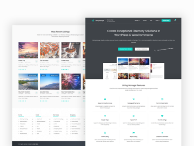 WordPress Listing Manager Theme plugin wordpress hero web website design ui webdesign