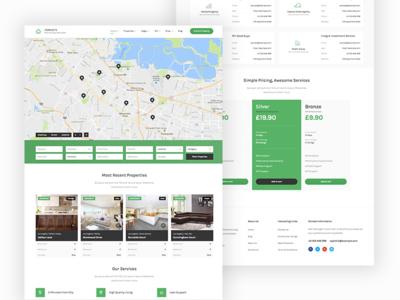 Homesite WordPress Theme listings directory wordpress green theme design webdesign ui web