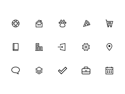 Simple Icons icon black linear line simple icons